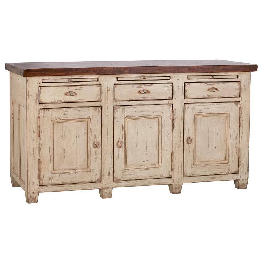 buffet bas 3 portes 3 tiroirs beige interior 39 s. Black Bedroom Furniture Sets. Home Design Ideas