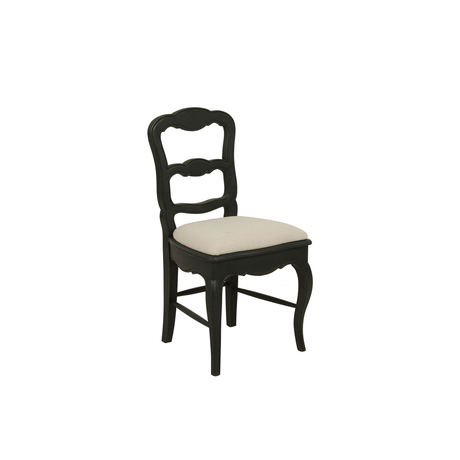 chaise en tissu et pin louise noir interior 39 s. Black Bedroom Furniture Sets. Home Design Ideas