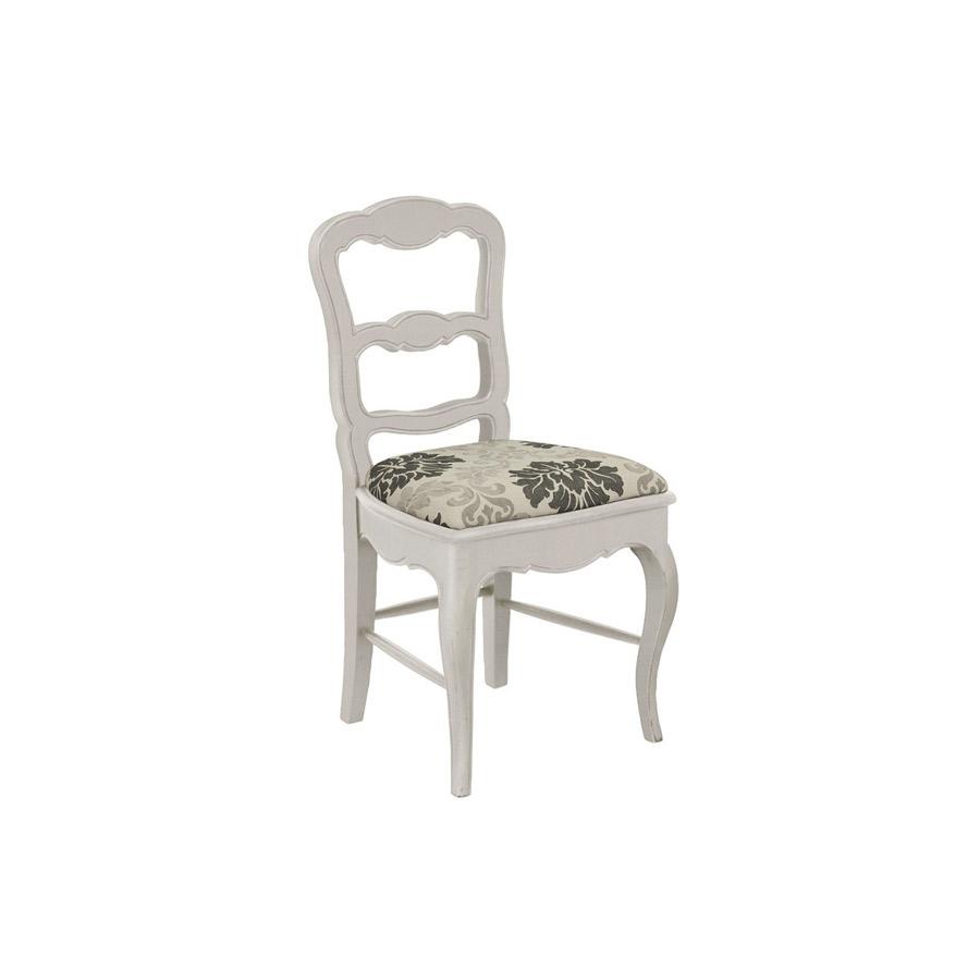 Chaise En Tissu Blanc Et Pin Massif Louise